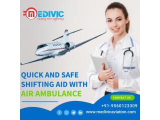 Perfect ICU Equipped Air Ambulance Services in Bhopal by Medivic